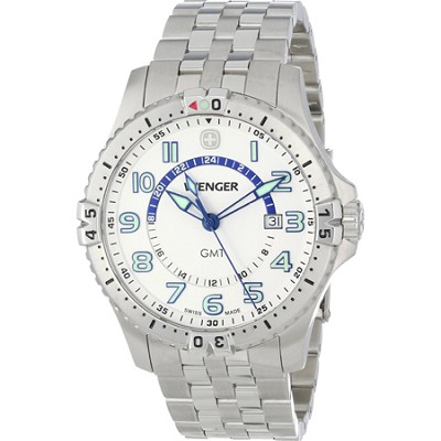 Men's Squadron GMT Watch - White Dial/Stainless Steel Bracelet
