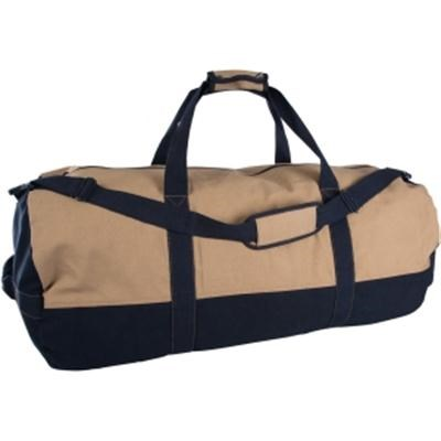 Two Tone Canvas Duffle Bag