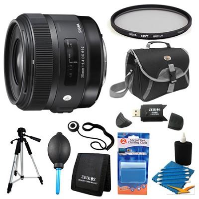 30mm F1.4 ART DC HSM Lens for Sigma Filter Bundle