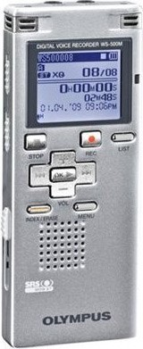 WS-500 Digital Voice Recorder (Silver)