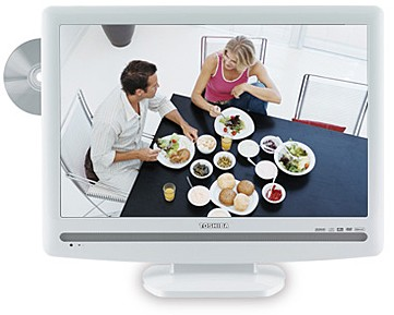22LV506 - 22`  High-definition LCD TV w/ built-in DVD Player (Hi Gloss White)
