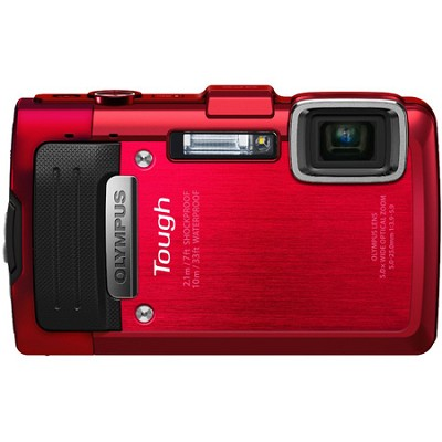 TG-830 iHS STYLUS Tough 16 MP 1080p HD Digital Camera - Red - OPEN BOX