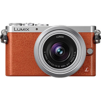 LUMIX DMC-GM1 Interchangeable Lens (DSLM) Orange Camera with 12-32mm Silver Lens