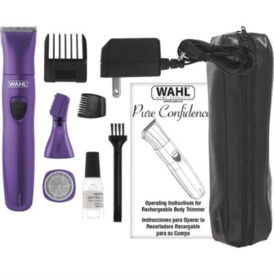 Pure Confidence Ladies Rechargeable Trimmer in Purple - 9865-100