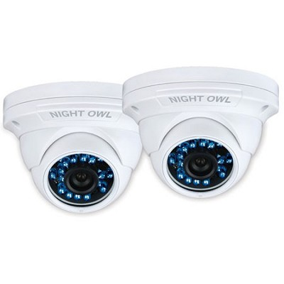 900 TVL 2-PK Bullet HighRes Dome Cameras, 75ft Night Vision, Filter, 60ft cables