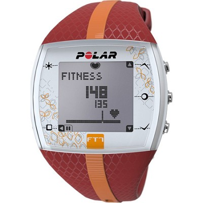 FT7  Heart Rate Monitor Watch - Red/Orange