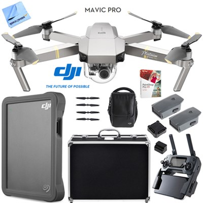 Mavic Pro Quadcopter Drone Fly More Combo Pack Triple Battery w/ Case 2TB HD Kit