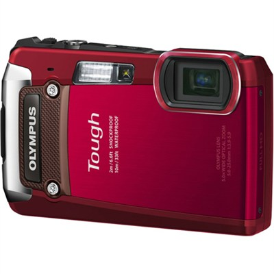 Tough TG-820 iHS 12MP Waterproof Shockproof Freezeproof - Red - OPEN BOX