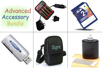 Bargain Accessory Kit for Powershot A1000, A2000, SX110 & Similar