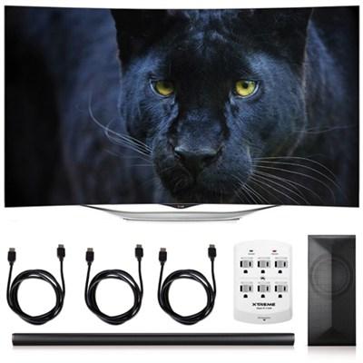 55EC9300 - 55-Inch 1080p Smart 3D Curved OLED TV + LAS751M 4.1 Channel Soundbar