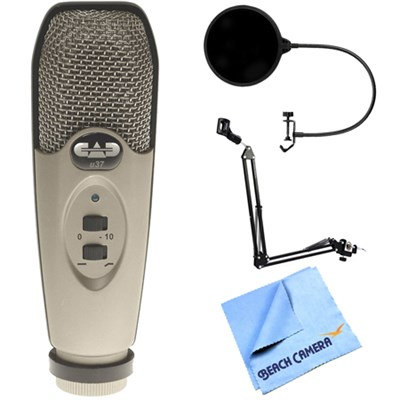 U37 USB Large Diaphragm Cardioid Condenser Microphone + Wind Screen Bundle