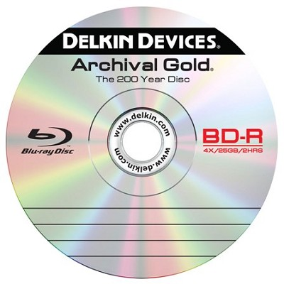 Archival 25Gig Blu-Ray Disc w/ Archival Jewel Case