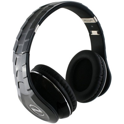 IP-ELITE-BK Headphones with Built-in Microphone and Removeable Cord, Black