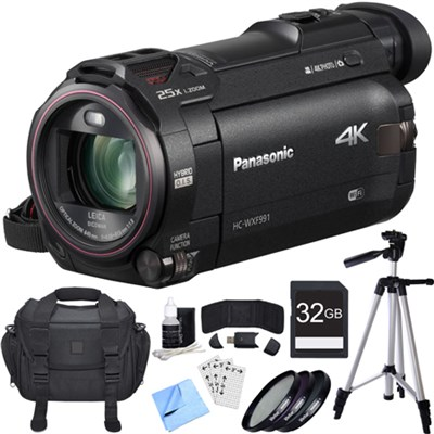 HC-WXF991K 4K Ultra HD Camcorder Black Essential Accessory Bundle