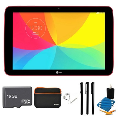 G Pad V 700 16GB 10.1` WiFi Red Tablet, 16GB Card, and Case Bundle