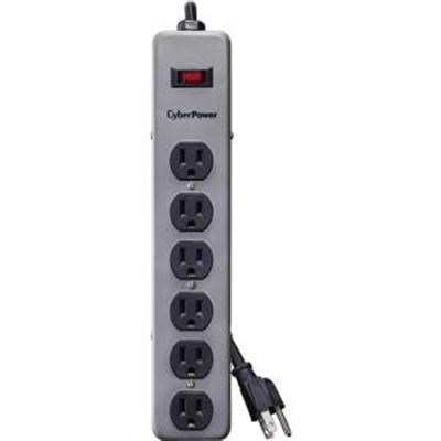 6-Outlet Metal Surge Strip with 8' Cord - B608MGY