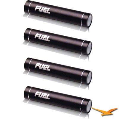 Bundle with 4 FUEL Active Mobile 2000 mAh Batteries w/ LED Flashlight - Black