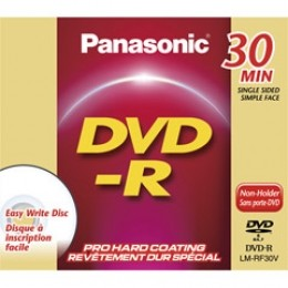 DVD-R single-sided Disc f/ DVD Camcorders (30 Minutes/1.4 GB) w/ jewel case