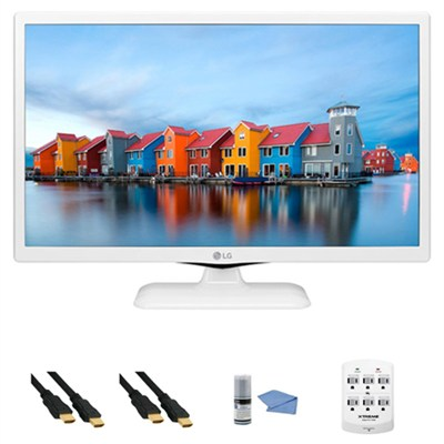 24LF4520-WU - 24-Inch HD 720p 60Hz LED TV (White) + Hookup Kit