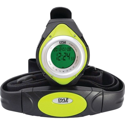 PHRM38GR Heart Rate Monitor Watch with 3D Walking/Running - Green