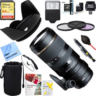 SP 70-200mm F/2.8 DI USD Telephoto Zoom Lens For SONY + 64GB Ultimate Kit