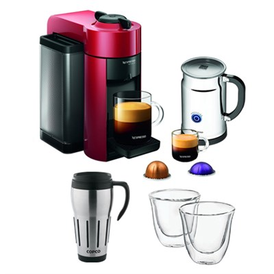 Vertuoline Evolu GCC1 Espresso Maker/Coffee Maker w/ Glasses & Travel Mug
