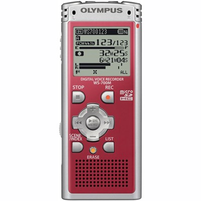WS-700M - Digital Voice Recorder 142630 (Red) - OPEN BOX