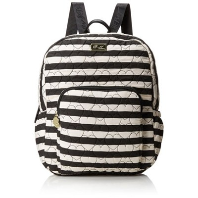 Luv Betsey Grand Quilted Compact Backpack - Stripes