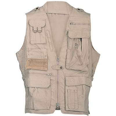 Safari Vest Khaki Medium Size