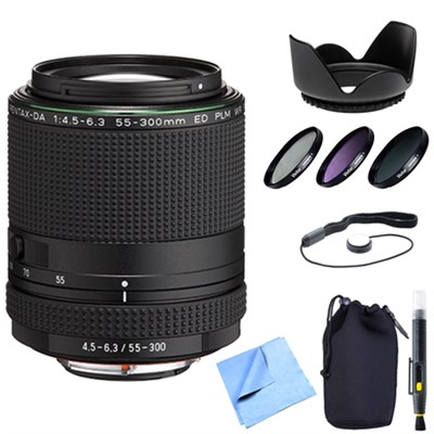 HD PENTAX-DA 55-300mm f/4.5-6.3 ED PLM WR RE Lens w/ Professional Bundle