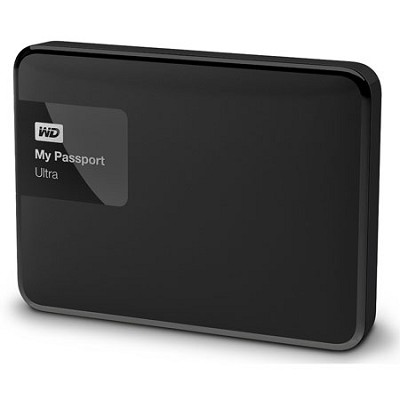 My Passport Ultra 1 TB Portable External Hard Drive, Black