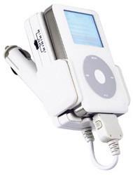 Car Charging Cradle + FM radio wireless transmitter for iPod nano & Video