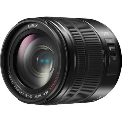 LUMIX G VARIO 14-140mm F3.5-5.6 ASPH. POWER O.I.S. Black Lens