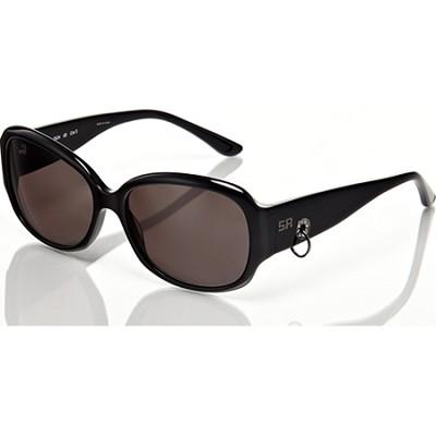 Black Frame with Loop Detail & Grey Lens Sunglasses
