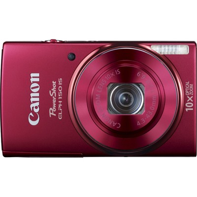 PowerShot ELPH 150 IS 20MP 10x Opt Zoom Digital Camera - Red