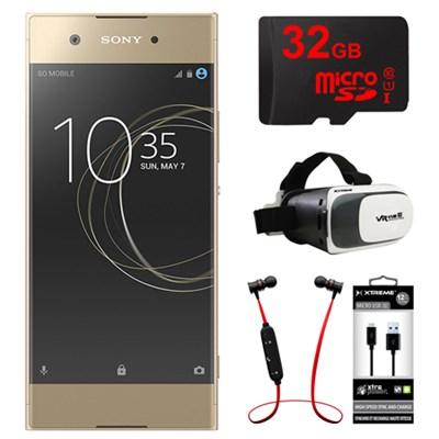 XA1 16GB 5-inch Smartphone, Unlocked - Gold w/ 32GB Bundle