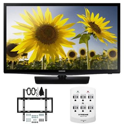UN24H4500 - 24-inch HD 720p Smart LED TV CMR 120 Plus Mount & Hook-Up Bundle