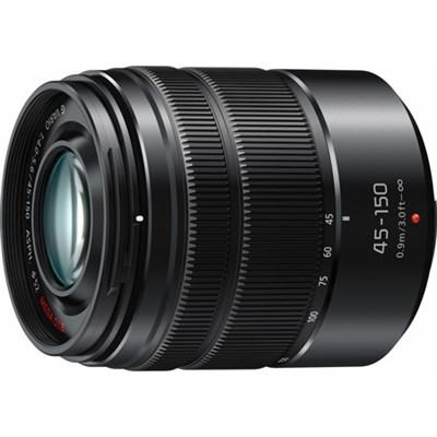 LUMIX G VARIO 45-150mm H-FS45150 Black Lens with Matte Finish - OPEN BOX