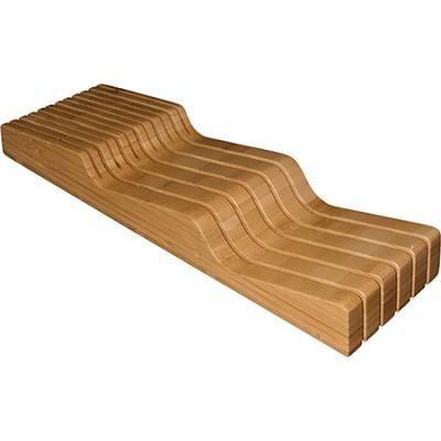 20-2091 In-Drawer Bamboo Knife Block