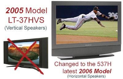Olevia LT37HVS 37 HD LCD Television (changed to the 537H LCD TV)