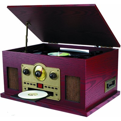 SRCD838 Nostalgia 5-in-1 Turntable with CD/Cassette/Radio & Aux Function