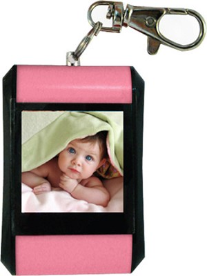 DF15-BK 1.5` Keychain Digital Photo Frame - Holds up to 107 Images (Pink)