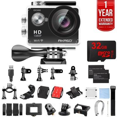 EK5000 Sports Action Camera Full HD 12MP Cam Waterproof w/ 32GB + Warranty