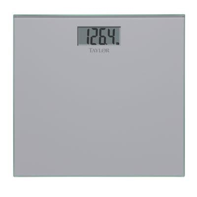 Glass Digital Scale Silver