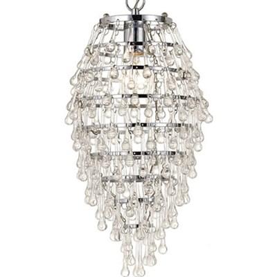 Elements Crystal Teardrop Mini Chandelier1-100W Std Bulb18 HX9 WHardwireOption