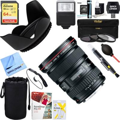 EF 17-40mm F/4 L USM Lens + 64GB Ultimate Kit