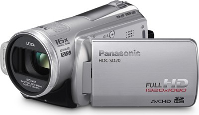 HDC-SD20S Hi-Def SD Camcorder with 16X Zoom (Silver)