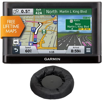 nuvi 66LM GPS Navigation System with Lifetime Maps & GPS Dash-Mount