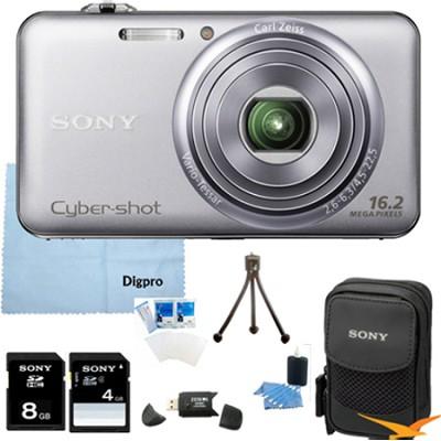 DSC-WX70 - 16.2MP Exmor R CMOS Camera 3.0` LCD 5x Zoom (Silver) 8GB Bundle