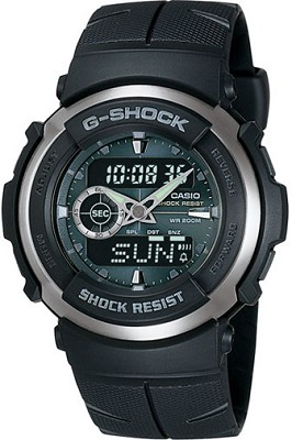 G300-3AV - G-Shock Street Rider Dark Green Face Black Band Watch